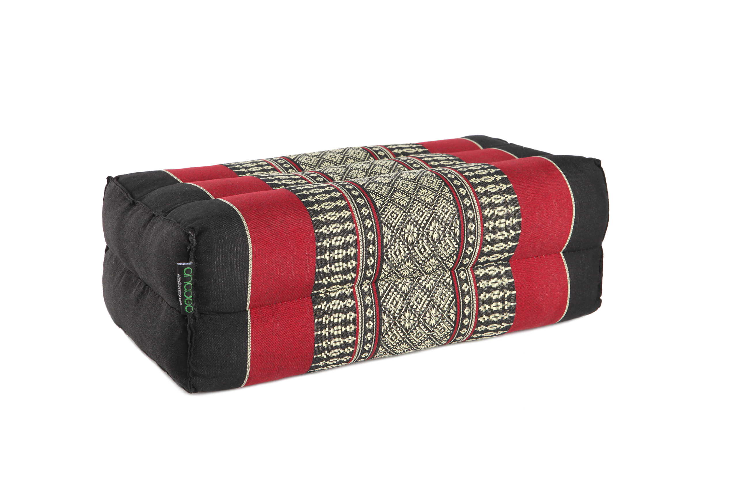 anadeo-standard-yoga cushion-black red