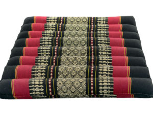 Black-Red Soft Meditation Cushion