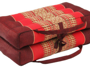 Folding / Leaflet Yoga and Meditation Cushion, Burgundy Red