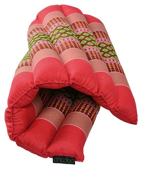 Soft meditation cushion / burgundy-Blue