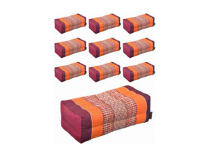 Anadeo Yoga Product - Lot 10 Coussins Burgundy Orange