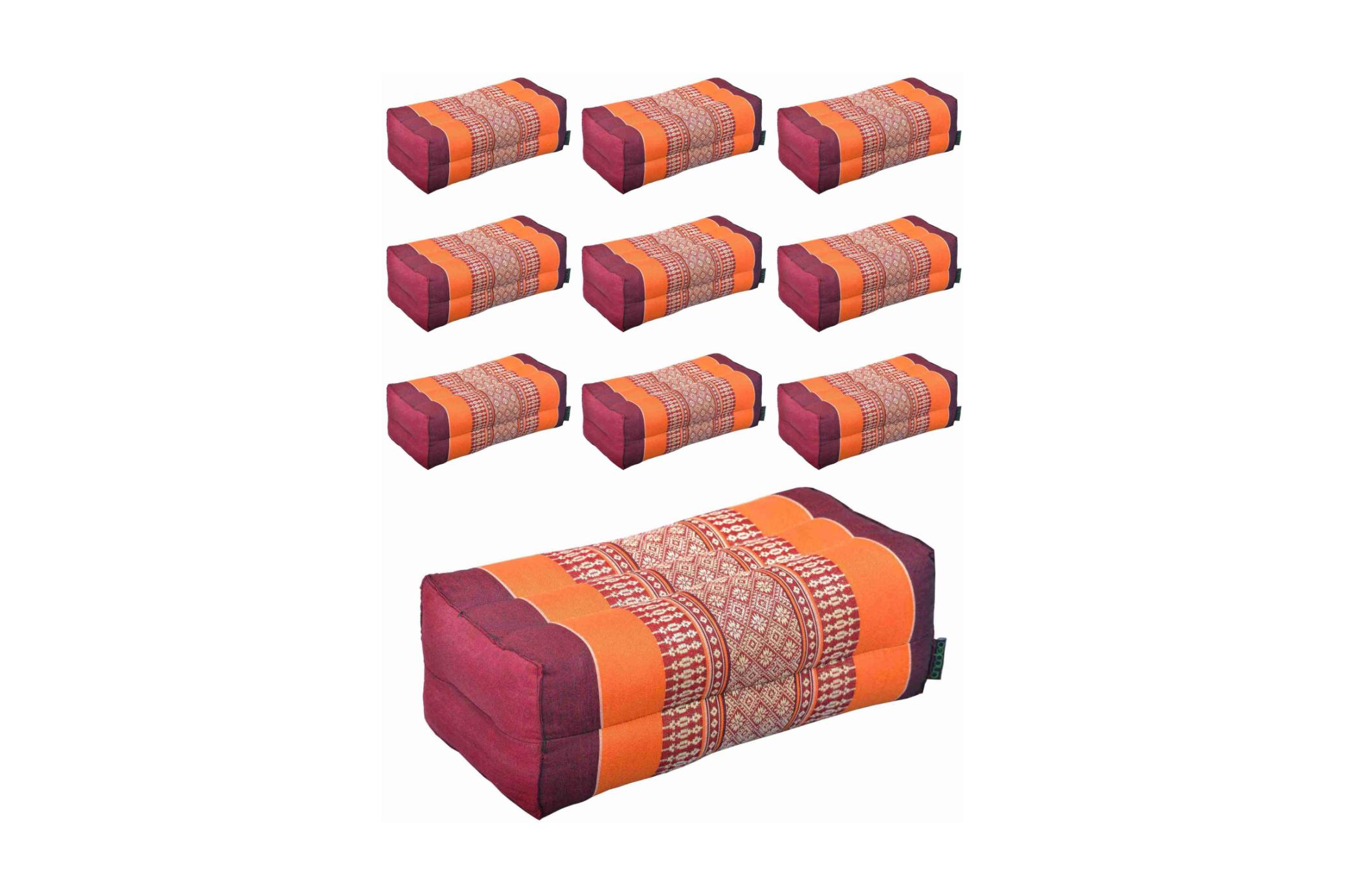 Anadeo Yoga Product - Lot 10 Coussins Burgundy Orange