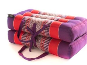 Folding / Leaflet Yoga and meditation cushion, Purple & Red
