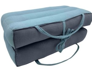 Modular Yoga and Meditation Cushion / Blue Niagara- Gray