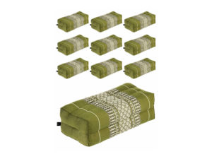 Anadeo Yoga Product - LOT de 10 Coussins Vert Bamboo