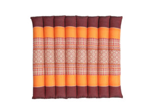 anadeo-flat rollable-yoga cushion-burgundy orange