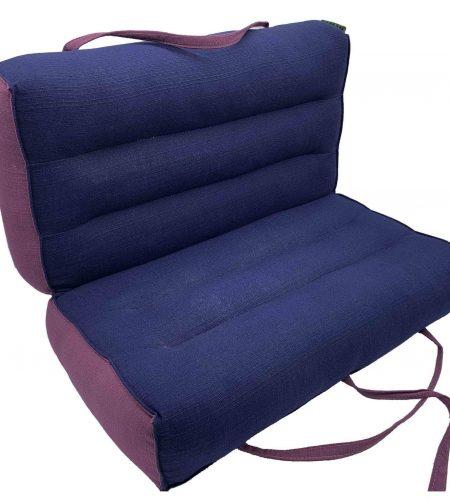 Modular Yoga & Meditation Cushion / Indigo - Black